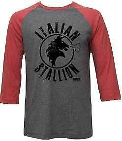 Italian Stallion Baseball Sleeve T-Shirt / Rocky Movie Throwback LS Raglan Tee