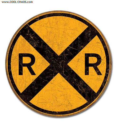 Railroad Crossing Street Sign