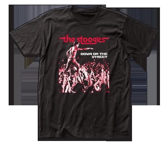 IGGY POP & THE STOOGES T-SHIRT / Iggy Pop Down on the street Rock Tee