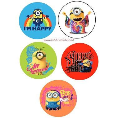 Minions Movie Button Set
