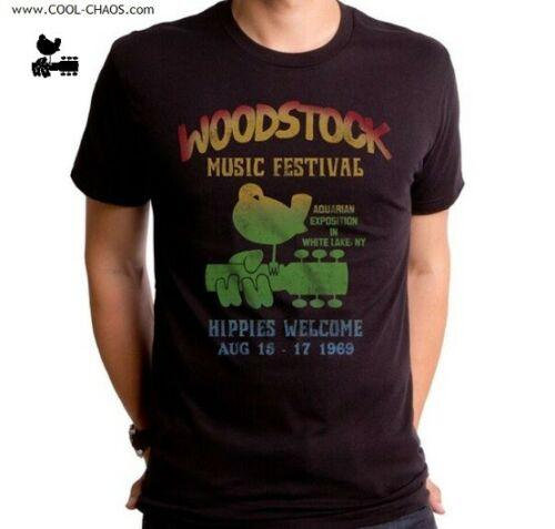 Official Woodstock T-Shirt / 1969 Woodstock Peace Love Music Retro New Rock Tee