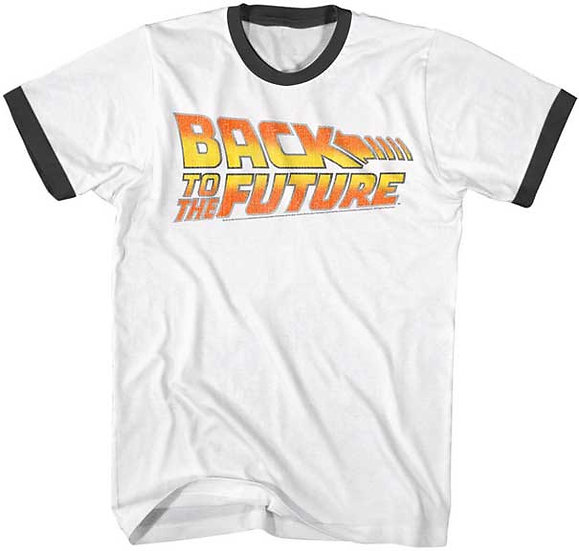 Back to the Future Movie T-Shirt / BTTF Movie Logo Ringer Tee