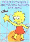 Believe in Yourself Gold Star Lisa Simpson Keychain