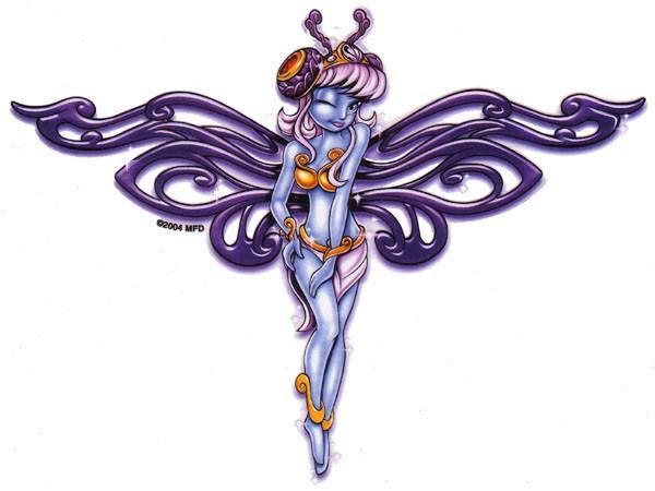 Flirt Wink Fairy Sticker
