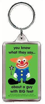 Big Feet Clown Keychain