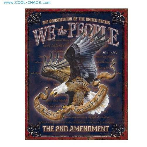 US Constitution 2nd Amendment Sign-We the People Sign