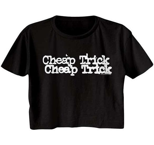 Cheap Trick Ladies Half Shirt / 80's Rock n Roll Crop Top