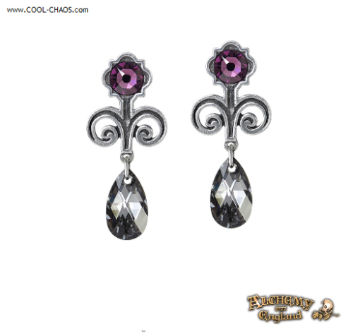 Lady Jane Grey The Nine Days Queen Crystal Drop Earrings by Alchemy Gothic 1977