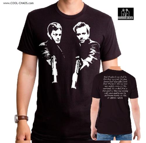 The Boondock Saints T-Shirt / Saints Prayer Tee,backprint