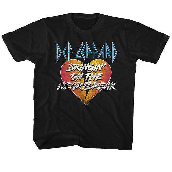 Def Leppard T-Shirt / 80's Rock Heartbreak Toddler & Kids Tee