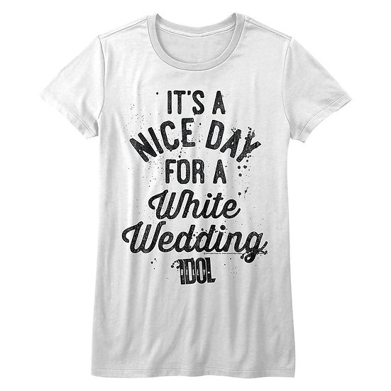 BILLY IDOL T-Shirt / 'It's a Nice day for a White Wedding' Brides Juniors Tee