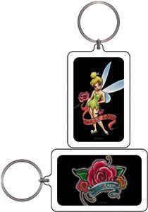 Tattoo Rose Tinker Bell Keychain