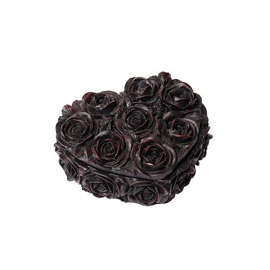 Black Rose Heart Shaped Box by Alchemy Gothic 1977