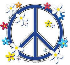 Daisy Retro Daisies Peace Sticker