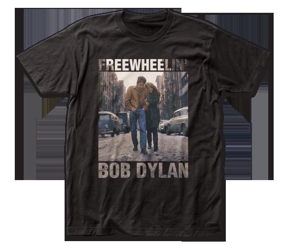 BOB DYLAN T-SHIRT / Bob Dylan Freewheelin' Record Album Cover Retro Rock Tee