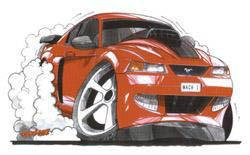 Mach1 Mustang Sticker
