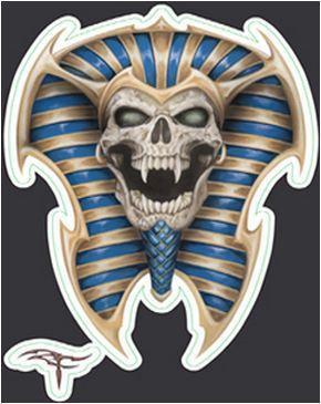 Mini Egyptian King Tut Skull Sticker