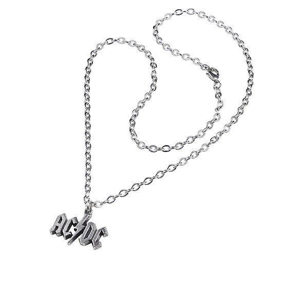 AC/DC Lightning Necklace / Official Licensed AC/DC Pendant Rock Jewelry