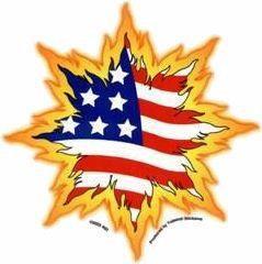 Crashing Freedom USA Flag Sticker