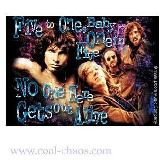 No One Gets Out Alive Jim Morrison Sticker