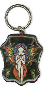 Gothic Rainbow Fairy Keychain