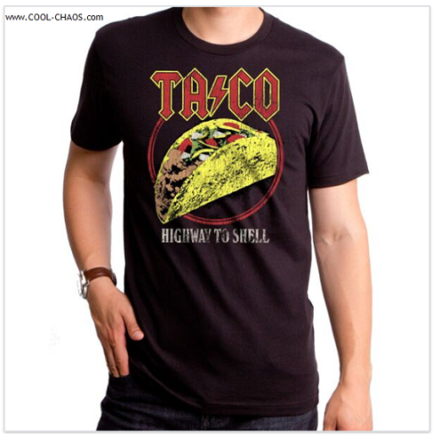 AC/DC Rock Spoof Taco T-Shirt / Highway to Shell – Funny Men's Tee