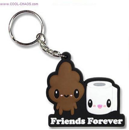 T.P. & Poop Best Friends Keychain