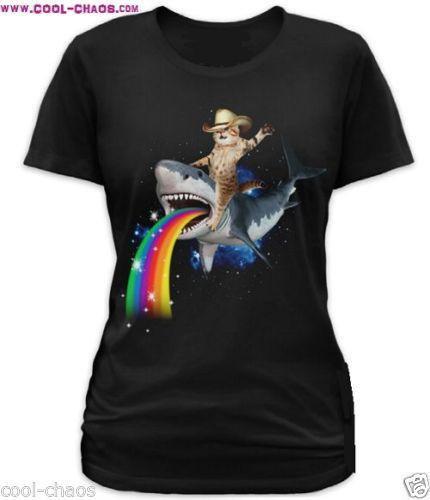 Sharkaroo Crazy Bucking Bronco Cat T-Shirt