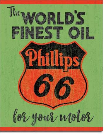 Phillip's 66 Motor Oil Tin Sign
