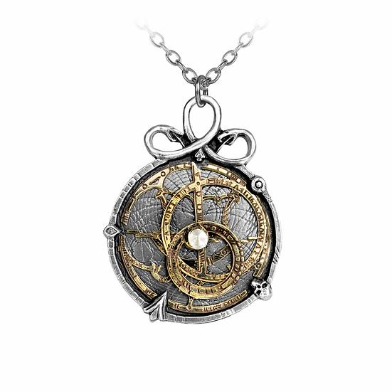 Steampunk Globe Pewter Anguistralobe Pendant
