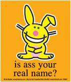 Is Your Name Ass Happy Bunny Sticker