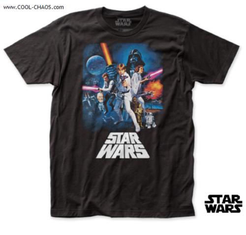STAR WARS T-SHIRT / Star Wars NEW HOPE Movie Poster Throwback Tee