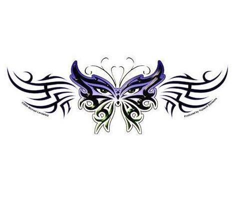 Cat Tribal Butterfly Sticker