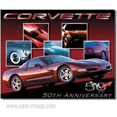 50th Anniversary Corvette Sign