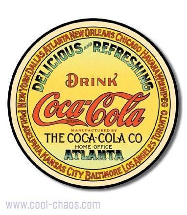 Keg Label Coca-Cola Sign