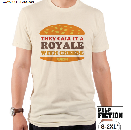 Pulp Fiction T-Shirt / ROYALE WITH CHEESE TEE