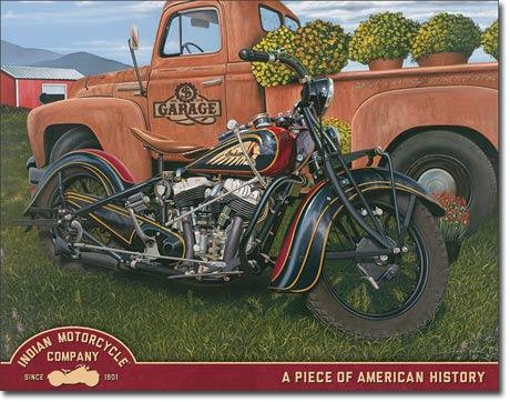 Indian Motorcycle Advertisement Replica Tin Sign
