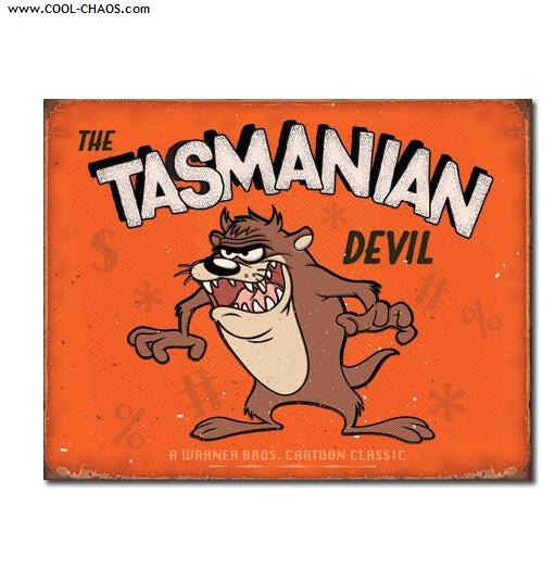 Tasmanian Devil Sign / Looney Tunes Distressed replica Tin Sign