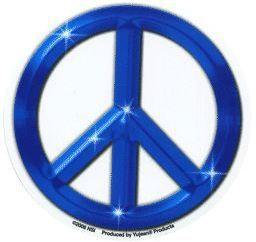 Blue Peace Sticker