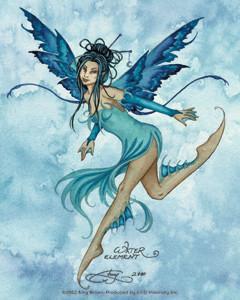 Aqua Blue Fairy Sticker