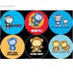 Monkey Buttons Collection-Set of Chimp/Monkee Buttons
