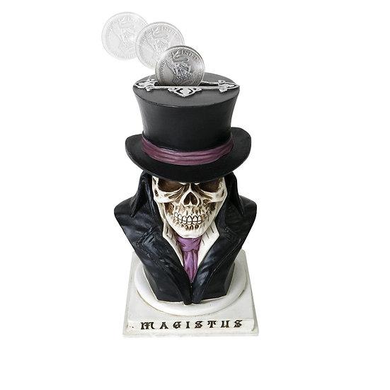 Count Magistus Gentleman Skull Coin Bank / Halloween Decor