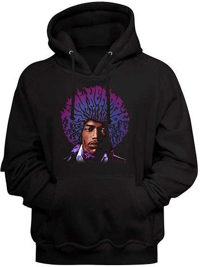 Jimi Hendrix Hoodie / Hendrix Purple Haze Rock Hooded Sweatshirt
