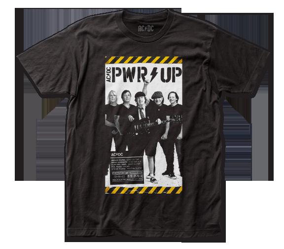 AC/DC Shirt / AC/DC POWER UP Power Cord Poster ROCK Throwback Tee