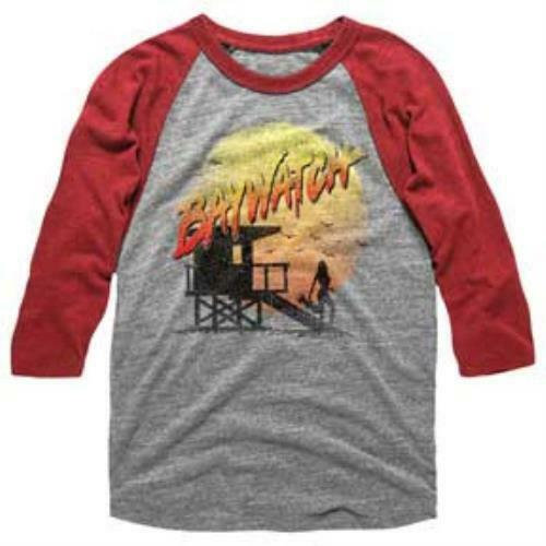 Baywatch Baseball Sleeve T-Shirt / Baywatch 90s Throwback LS RaglanTee