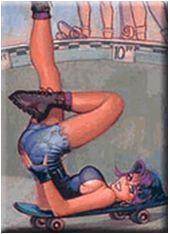 Sexy Skateboard Pin-up Girl Magnet