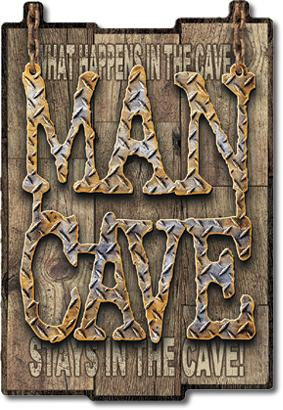 Man Cave Tin Sign