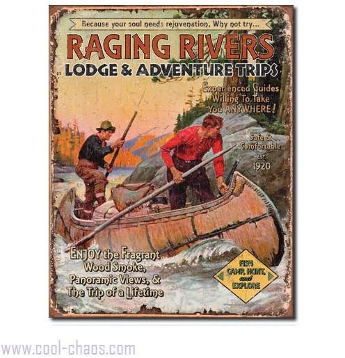 Raging Rivers Lodge Hunting Camping Sign