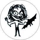 Stickman Ozzy Osbourne Button #3 Eat Bats
