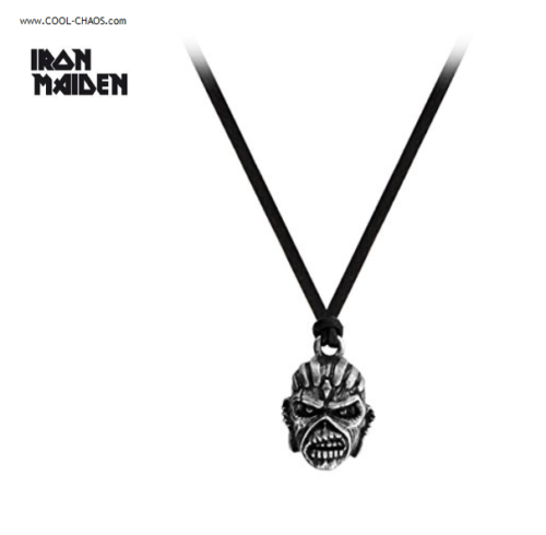 Iron Maiden Eddie Necklace / Book of Souls,Official Iron Maiden Thong Necklace